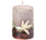 Emóciám Vanilka Vanilla vonná sviečka valec 50 x 80 mm