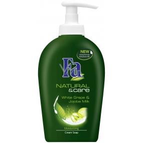 Fa Natural & Care Biely strapec tekuté mydlo s dávkovačom 300 ml