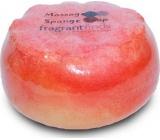 Fragrant Golden Balls Glycerínové mydlo masážne s hubou naplnenou vôňou parfumu Beckham Classic v farbe jasne červenej 200 g