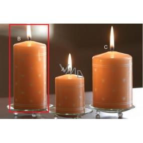 Lima Srdiečko potlač sviečka lososová valec 60 x 120 mm 1 kus