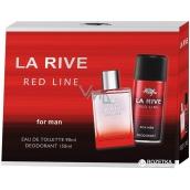 La Rive Red Line toaletná voda pre mužov 90 ml + dezodorant sprej 150 ml, darčeková sada