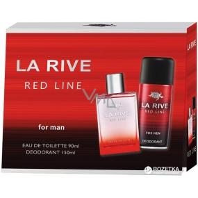 La Rive Red Line toaletní voda pro muže 90 ml + deodorant sprej 150 ml, dárková sada
