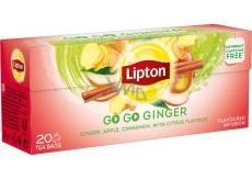 Lipton Go Go Ginger s citrusovou príchuťou a zázvorom aromatizovaný čaj 20 nálevových vrecúšok 36 g