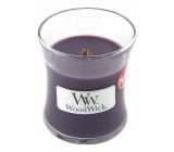 Woodwick Fig - Fík vonná sviečka s dreveným knôtom a viečkom sklo malá 85 g