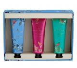 Heathcote & Ivory Trilogy Pink, Blue, Green hydratačný krém na ruky a nechty 3 x 30 ml, kozmetická sada