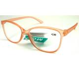 Berkeley Čítacie dioptrické okuliare +2,5 plast staroružovej priehľadné 1 kus MC2191