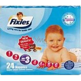 Fixies Active Life 3 Midi 4 - 9 kg plienkové nohavičky 24 kusov