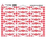 Arch Samolepky na kořenky s červeným ornamentem Bez názvu - k dodatečnému popisu (např. pro čaje, speciální koření) 0301