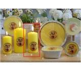 Lima Citronela svíčka proti komárům vonná repelentní žlutá válec 60 x 120 mm