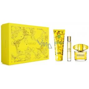 Versace Yellow Diamond toaletní voda pro ženy 90 ml + toaletní voda roller 10 ml + sprchový gel 150 ml, dárková sada