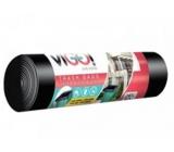 VIGO! Vrece na odpad LDPE čierny 240 litrov 116 x 150 cm 10 kusov