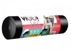 viGO! Pytel na odpad LDPE černý 240 litrů 116 x 150 cm 10 kusů