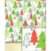 Papier bal.vánoč.5mx70cm BVD biely - zelené a červené stromčeky