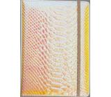 Albi Blok holografický linajkový na gumičku Oranžovo-ružový 19,5 x 14,2 x 1,5 cm