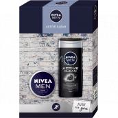 Nivea Men Active Clean sprchový gél 250 ml + krém 75 ml, kozmetická sada pre mužov