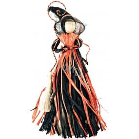 Čarodějnice černooranžová na zavěšení 30 cm