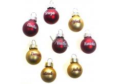 Albi Vianočné guľôčky červená Tetička 2 cm