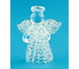 Anděl skleněný na postavení 6 cm