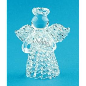 Anjel sklenený na postavenie 6 cm