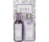 Bohemia Gifts & Cosmetics Levanduľa s extraktom z bylín Sprchový gél 200 ml + kúpeľová kúpeľ 200 ml + dekoračný obraz Mama Hotel 13 x 24 cm, kozmetická sada