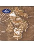 Nekupto Papierové obrúsky vianočné hnedé perníčky 3 vrstvové 33 x 33 cm 20 kusov
