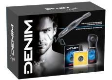 Denim Original voda po holení pre mužov 100 ml + sprchový gél 250 ml + Trimmer - kaderník na fúzy, kozmetická sada