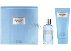 Abercrombie & Fitch First Instinct Blue Woman toaletná voda pre ženy 50 ml + telové mlieko 200 ml, darčeková sada