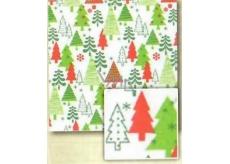 Nekupto Baliaci papier biely-červený, zelený vianočný strom Classic 0,7x2m BVC 2015