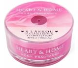 Heart & Home S láskou Sójová vonná sviečka v mištičke horí až 12 hodín 36 g