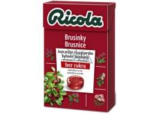 Ricola Cranberry - Brusinky švýcarské bylinné bonbóny bez cukru s vitamínem C 40 g