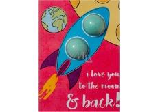 Bomb Cosmetics I Love You To The Moon & Back Šumivé želanie s balistiky 40 g