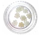 Professional Ozdoby na nechty kvetina (1) biele 132