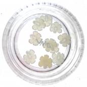 Professional Ozdoby na nechty kvetina biele 132