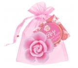 NeoCos Ruža ružová darčekové toaletné mydlo v organze 30 g