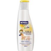 Nivea Sun Kids Pure & Sensitive OF50 + mlieko na opaľovanie pre deti 200 ml