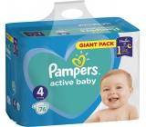 Pampers Active Baby Dry 4 Maxi 9-14 kg jednorazové plienky 76 kusov