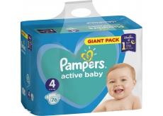 Pampers Active Baby Dry 4 Maxi 9-14 kg jednorázové plenky 76 kusů