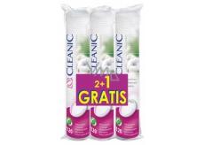 Cleanic Natural Beauty Pure Effect Soft Touch odličovací tampony 3 x 120 kusů