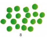 Bambuľky Zelené 2,5 cm 18 kusov