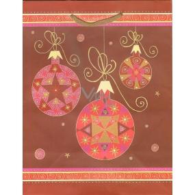 Albi Dárková papírová taška střední 23 x 18 x 10 cm Vánoční TM4 96235