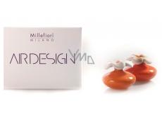 Millefiori Air Design Difuzér květina nádobka pro vzlínání vůně pomocí porézní vrchní části mini oranžová 2 kusy, 80 ml, 7 x 6 cm