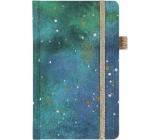 Albi Diár 2020 vreckový s gumičkou Hviezdna tapeta 15 x 9,5 x 1,3 cm
