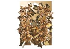 Mašľa textil zlatá na platíčko 5 cm 12 kusov