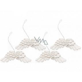 Anjelské krídla biela na zavesenie 75 mm 4 kusy