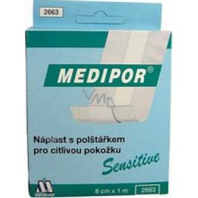 Medipor Sensitive náplasť s vankúšikom 8 cm x 1 m rýchloobväz