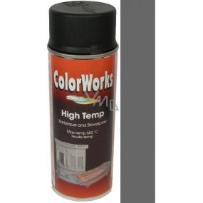 Color Works High Temp 8553 antracit žáruvzdorný lak na povrchy 400 ml