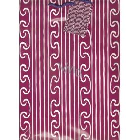 Nekupto Dárková papírová taška velká 32,5 x 26 x 13 cm Vínová 1 kus 840 30 BL
