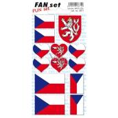 Arch Fan Set Slovenská republika samolepky a tetovačky 8 x 15 cm 1 kus