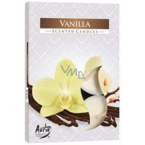 BISPOL Aura Vanilla - Vanilka vonné čajové sviečky 6 kusov