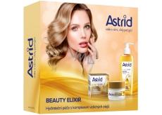 Astrid + čBeauty Elixir denný krém proti vráskam 50 ml + čistiaci pleťový olej 145 ml, kozmetická sada